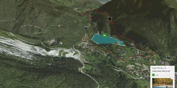 mountain biking trail at Lake Garda: 738. Lago di Tenno - Ballino