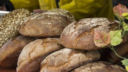 Erntedank Brotmarkt, fertiges Brot