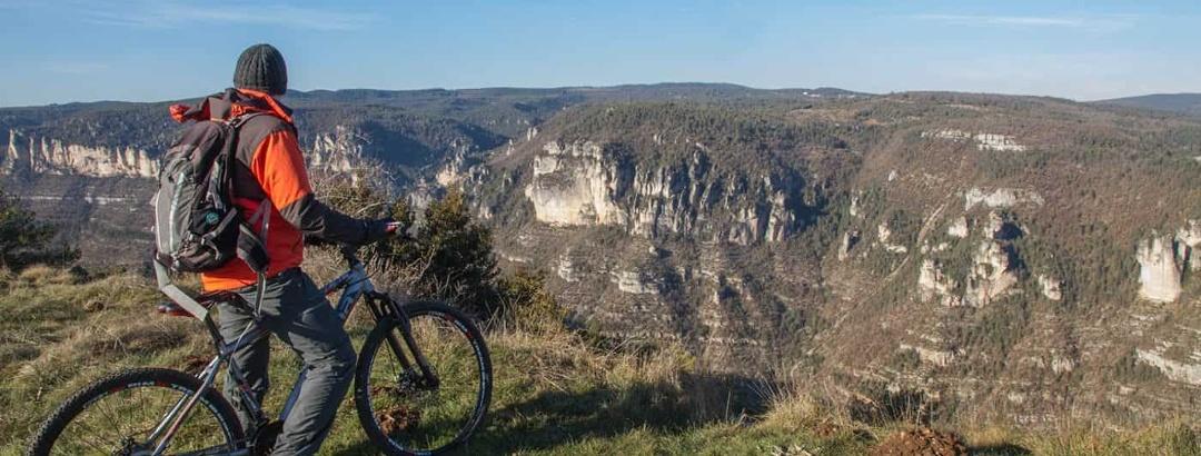 Sortie VTT autour du Causse Noir dans l'Aveyron