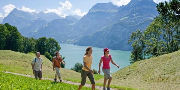 Aussichtsreicher Streckenabschnitt des «Weges der Schweiz»