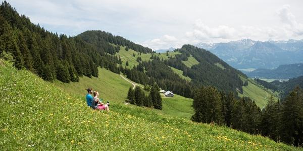 Blick vom Berghaus Schwaben