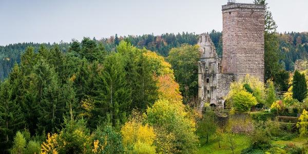 Die Burgruine in Zavelstein belohnt für die Mühen des Aufstiegs mit einem tollen Ausblick