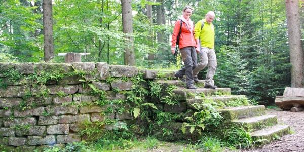 Das ehemalige Schafott liegt mitten im Wald