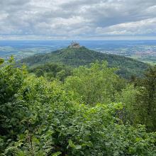Der Blick auf die Burg Hohenzollern