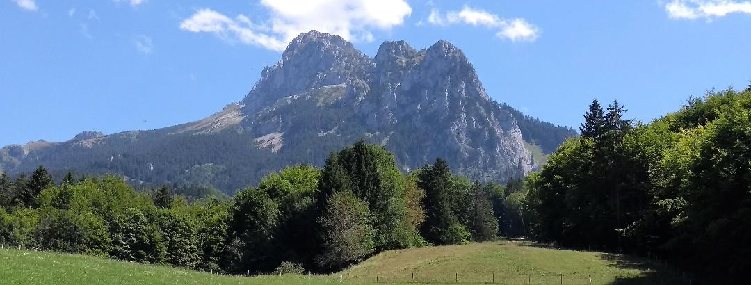 La Dent d'Oche dans le massif du Chablais, en Haute-Savoie