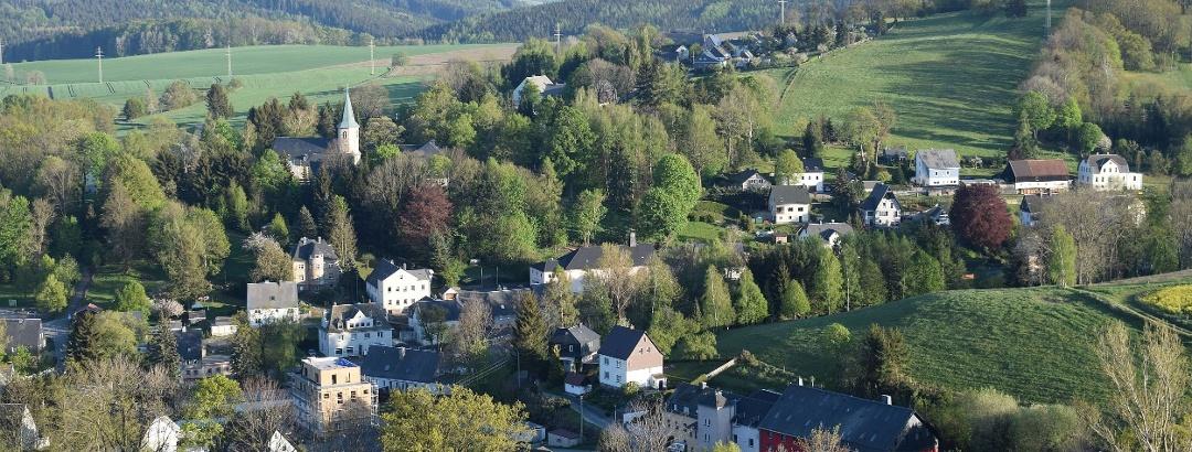 Blick auf Gelenau vom Aussichtsturm