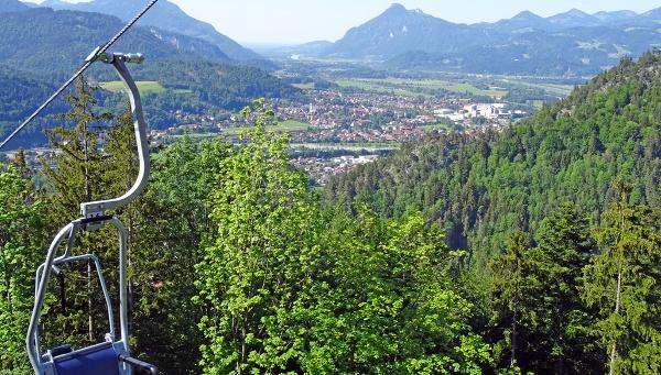 Kaiserlift_Talfahrt_Blick nach Kiefersfelden