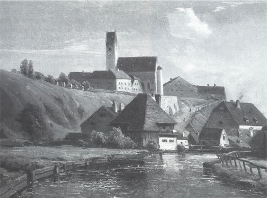 Blick auf Giesing um 1850
