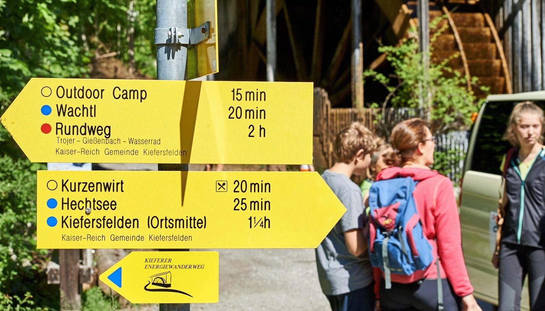 Kieferer Energiewanderweg - entlang des Energiespenders Kieferbach