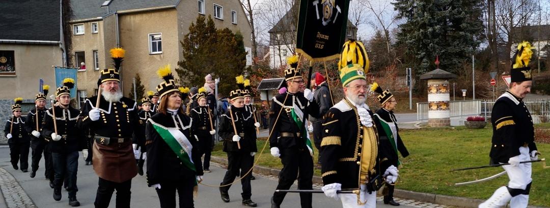 Bergparade in der Bergstadt Thum