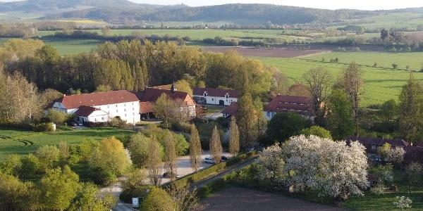 Rittergut Besenhausen - Ansicht von oben