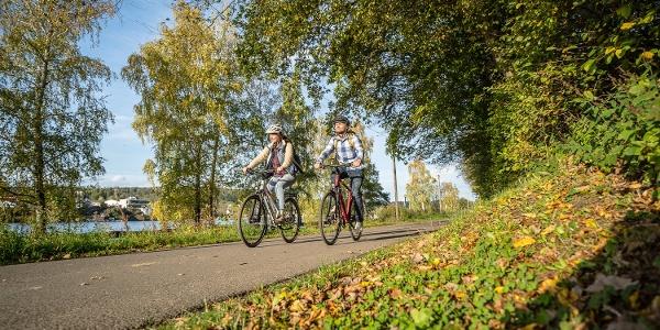 Radfahren am Stausee Obermaubach