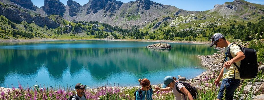 Lac d'Allos dans les Alpes de Haute-Provence
