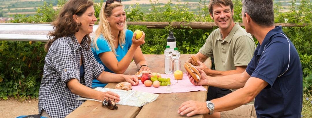 Picknick auf der Hiwweltour Birmackturm