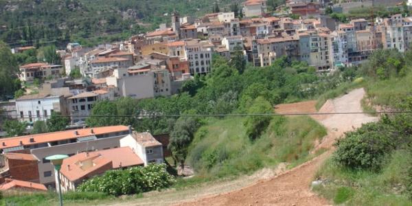 Blick auf Monistrol de Montserrat.