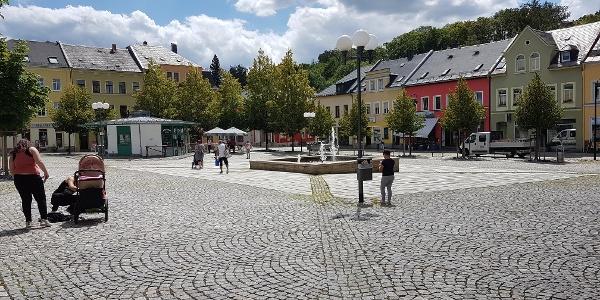 Neumarkt der Stadt Auerbach/Vogtland