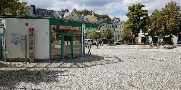 Ansicht des Neumarkts der Stadt Auerbach/Vogtland