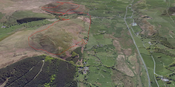hike in Allerdale: Ling Fell and Sale Fell Round Route