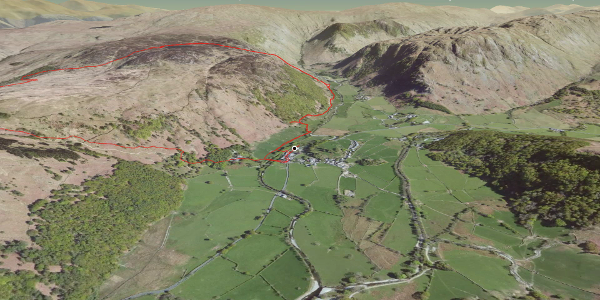 hike in Allerdale: Great Crag & Grange Fell Round Route