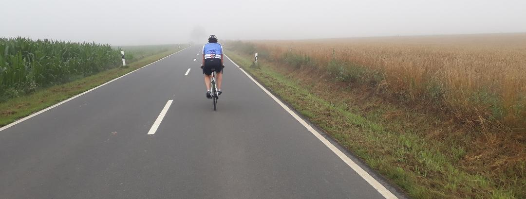 Auf dem Weg hinunter zur Weser
