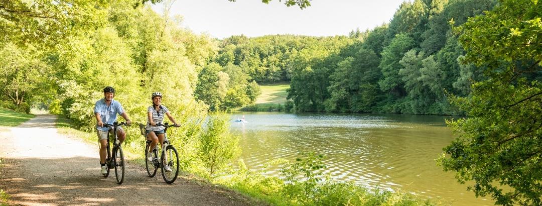 Radfahrer am Ohmbachsee