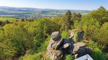 Turm Spitzer Stein Blick auf Felsen