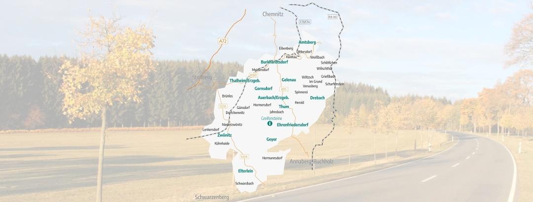 Übersichtskarte Greifensteinregion