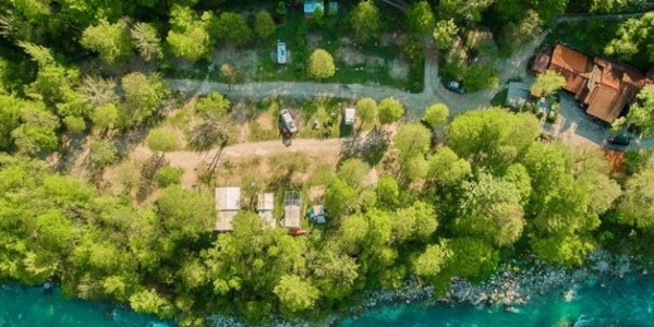 Nestled right next to the Soča river