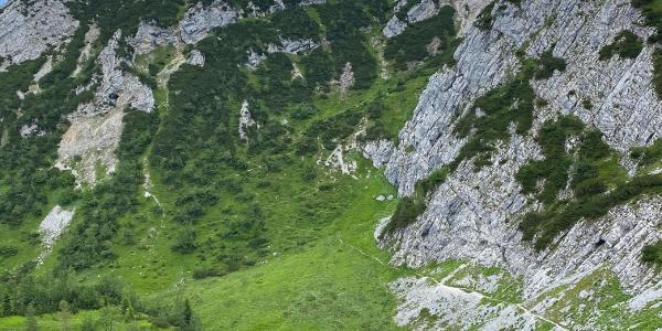 Aufstieg vom Hupfleitenjoch zum Osterfelderkopf