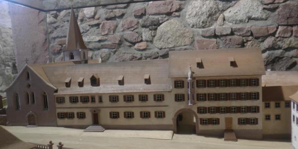 Modell von Kloster Allerheiligen