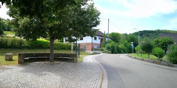 Blick vom Startpunkt auf die Wappenschmiedstraße