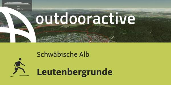 Trailrunning-Strecke auf der Schwäbischen Alb: Leutenbergrunde