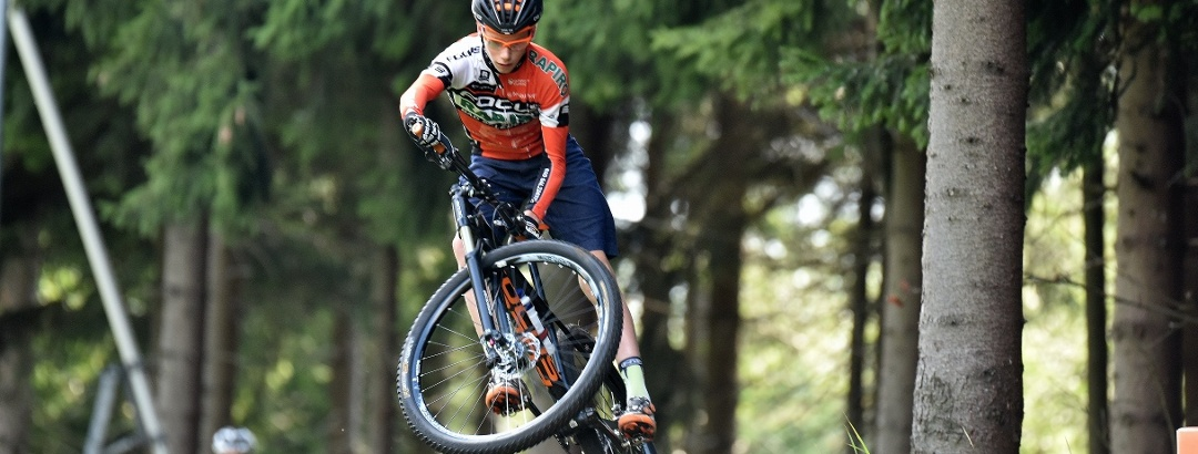 Mountainbiker in Action