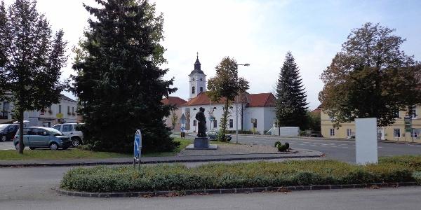 Marktplatz in der Gemeinde Erlauf