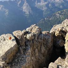 Spalte am Gipfel