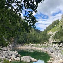 Črno jezero (Schwarzsee) nach Steilstück