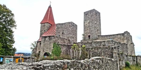 Burg Leuchtenberg - Start oder Ziel, je nachdem.