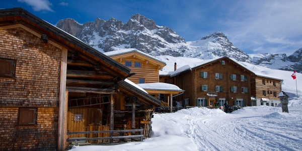 Das Berghaus erreicht man im Winter nur zu Fuss.