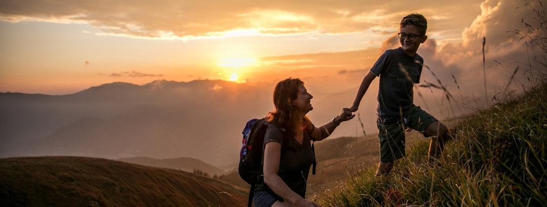 Mountain hiking in Tuscany