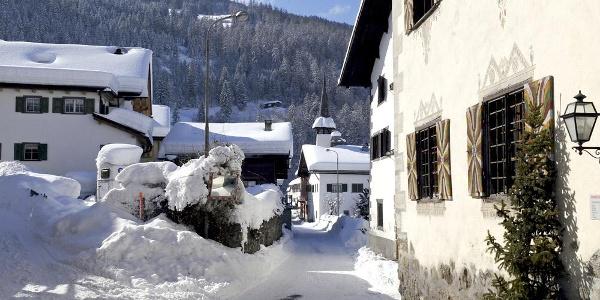 Das romantische Dorf Fideris mit Patrizierhäusern