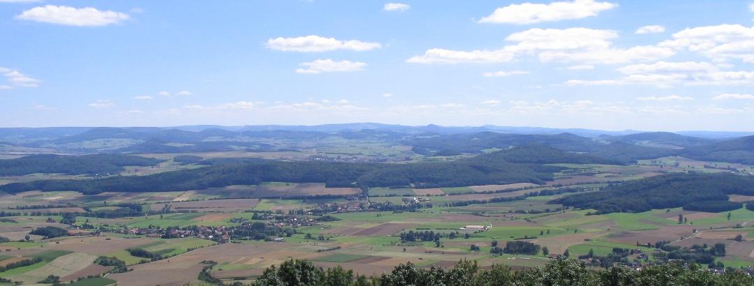 Blick vom Soisberg nach Süden in die Rhön