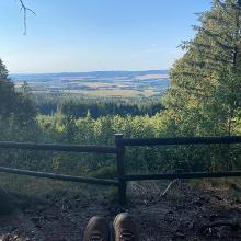Aussichtspunkt, mit Blick Richtung Eifel.
