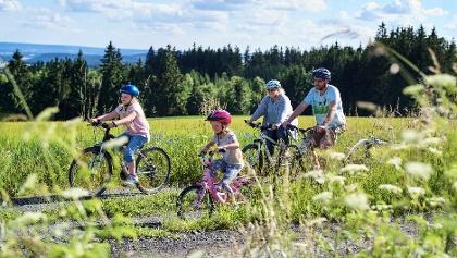 Familien-Radausflug auf den Höhen des Frankenwaldes