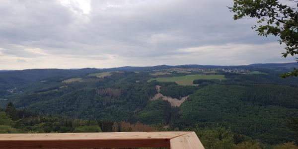 Blick von der Aussichtsplattform am Hochsimmer