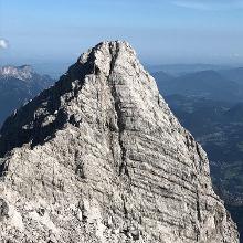Blick von der Südspitze zur mittelspitze zurück
