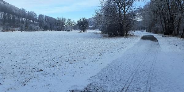 Winterwandern am Wasserweg Grimmenstein