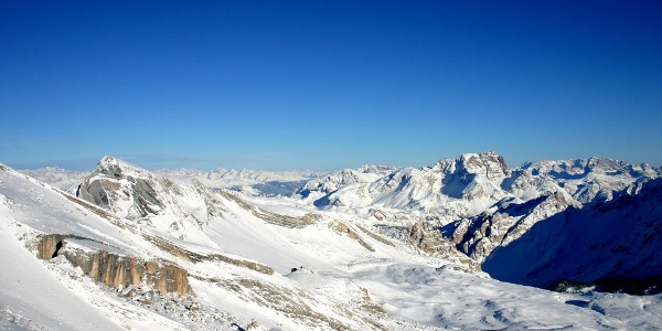 The Fanes plateau in winter
