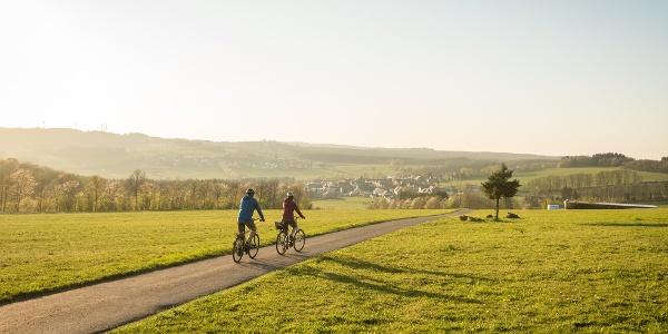 Radfahrer auf der Fuchskaute