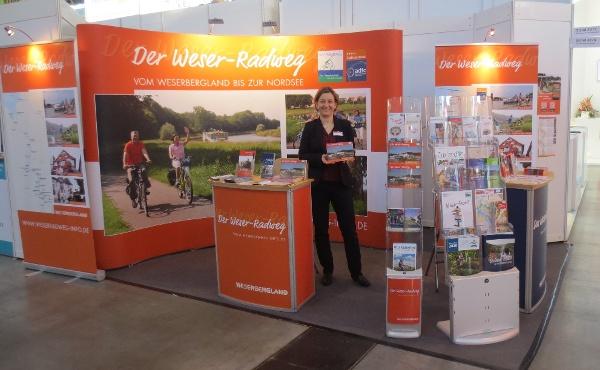 Weser-Radweg Präsentation auf der CMT in Stuttgart