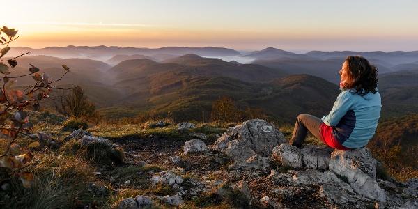 Őszi hajnal a Három-kőn